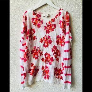 💥 LOFT colorful light sweater top S